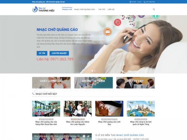 Mau website nhac cho copy